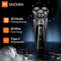 Xiaomi Enchen Black Stone 3D Electric Shaver Razor for Men Beard Hair Trimmer USB Type-C Rechargeable One Blade Shaving Machine