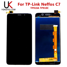 100% Test 5.5'' For TP-Link Neffos C7 LCD Display +Touch Screen Digitizer Assembly For TP Link Neffos C7 TP910A TP910C Black neffos x1 lite gold