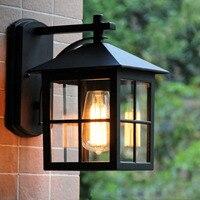 Simple European style bedside bedroom lamp Outdoor waterproof courtyard villa road lamp Garden antique American wall lamp