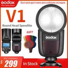 Godox-Flash Speedlight V1C V1N V1S V1F V1O V1P TTL HSS 1/8000s, batería de ion de litio, Speedlite, para Canon, Nikon, Sony, Fuji, Pentax