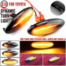 1 par led carro marcador lateral dinâmico blinker luz de sinal da lâmpada por sua vez luz de sinalização para toyota yaris corolla auris mk1 e15 rav4 mk3