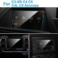 Защита экрана автомобиля для Citroen C5 Aircross C3-XR C4 C5 C4L внутренняя Автомобильная gps-навигация защитная пленка из закаленного стекла аксессуары