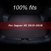 Mata bagażnika samochodowego dla Jaguar XE 2015 2016 2017 2018 mata do wyłożenia podłogi bagażnika dywan wnętrze osłona akcesoriów