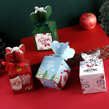 Gift-Box Merry-Christmas Custom Creative 10pcs with Ribbon for Four-Style Diy New