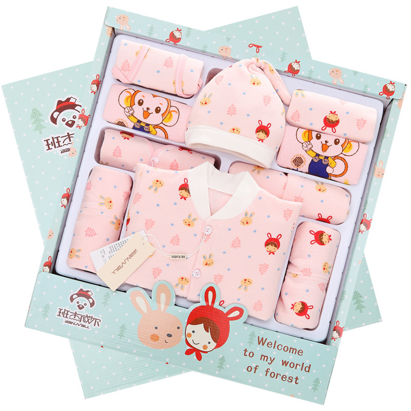With BABY'S BLANKET Clothes For Babies Newborns Gift Box Autumn And Winter Thick Primary BABY'S FIRST Month Baby Set Maternal An