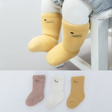 3 Pairs/Lot Newborn Baby Socks Boys Girls Thick Warm Cotton Cartoon In Tube Socks Kids Children Clothing Accessories High Socks 5 pairs baby girls boys socks character print kids socks for girls clothing brand 100