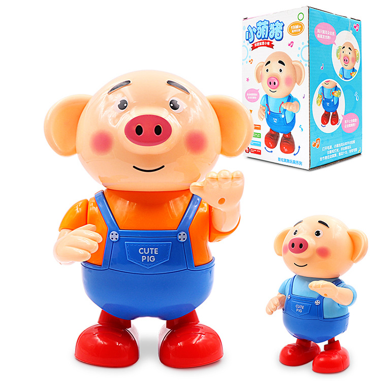 Electric Doll Seagrass Pigskin Momo Pig Singing Dancing Douyin Celebrity Style Cute Cartoon CHILDREN'S Toy