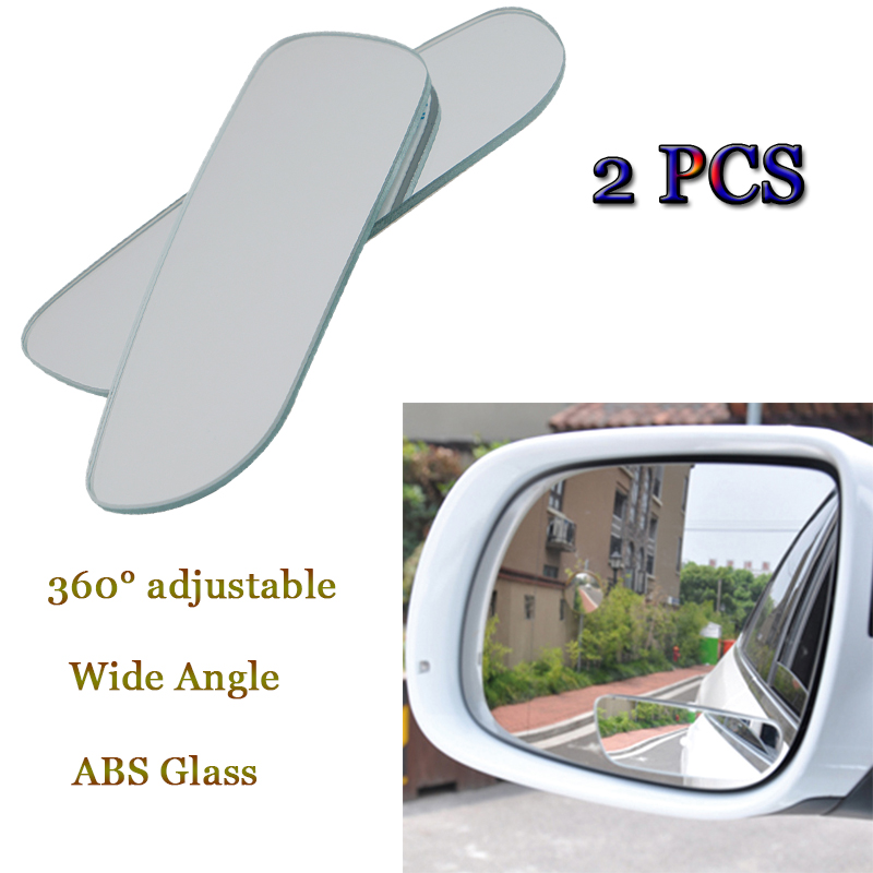 2pcs Car Auto 360 Degree Wide Angle Convex Rear Side View Blind Spot Mirror For Universal