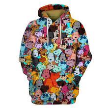 цена на Cartoon 3D Print  Hoodie Sweatshirt Unisex Harajuku coat casual pullover hoodies  CARTOON-003