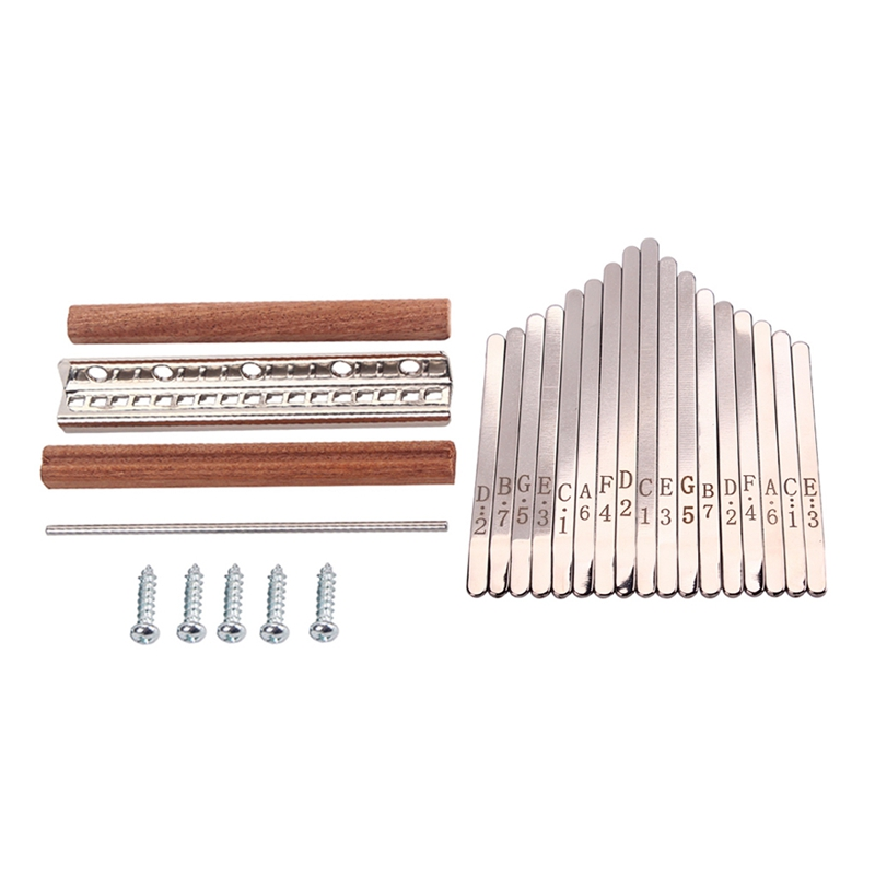 1 Set Steel Kalimba Mbira DIY 17 Keys With Thumb Piano Bridge Musical Instrument Parts For Luthiers Makers For Music Lovers