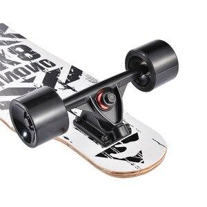 """Image 5 - 31"""" Adult Kids Mini Complete Longboard Flat Plate Skateboard Maple Wood Deck Skate Board Mini Street Dancing Longboard"""
