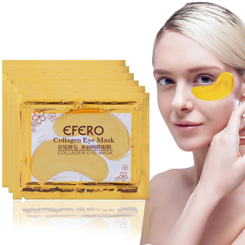 24k Gold/Seaweed Collagen Eye Mask Face Anti Wrinkle Gel Sleep Gold Patches Moisturizing Care