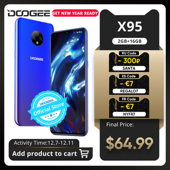 New DOOGEE X95 Android 10 4G-LTE Cellphones 6.52