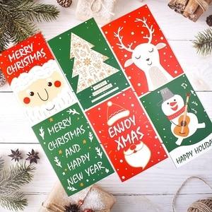 Image 5 - Chúc Giáng Sinh Thẻ Cây Giáng Sinh Mùa Đông Tặng Bật Thẻ Giáng Sinh Trang Trí Dán Cắt Laser Năm Mới Thiệp