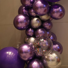 50pcs wedding decoration  latex balloons pearlescent metal bright color latex balloons birthday party wedding room decoration close fitting latex leggings men s latex tight panties two constracting color latex trousers
