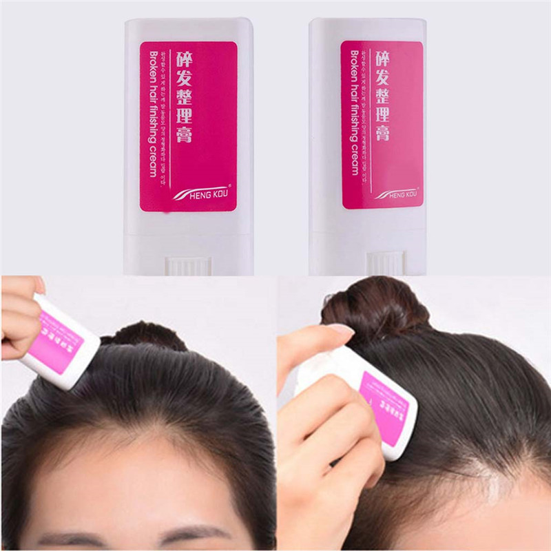 Brand New Practical Women Small Broken Hair Essential Finishing Cream Portable Refreshing Styling Fix Wax Stick Hair Cream Flat