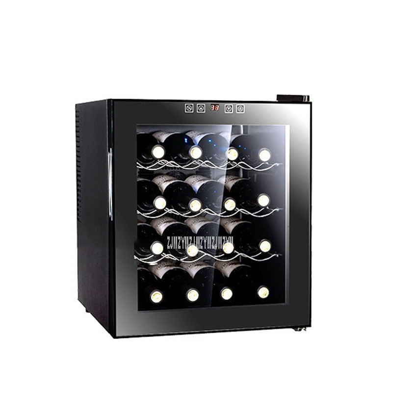 4 Layer Electric Red Wine Cabinet 16 Bottle Constant Temperature 11-18 Centigrade Household Ice Bar Mini Wine Refrigerator BW50D