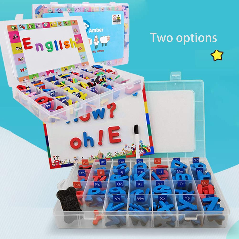 2 Style Magnetic Letters Uppercase Lowercase Foam Alphabet ABC Magnets For Fridge Refrigerator Educational Toys Set