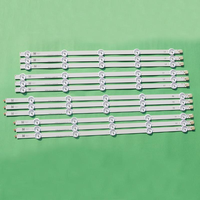 12pieces LED Strip For LG 50inch TV 50LA6208 50LN6108 50LN6138 50LA6230 50LA6136 6916L-1276A 6916L-1273A 6916L-1272A 6916L-1241A