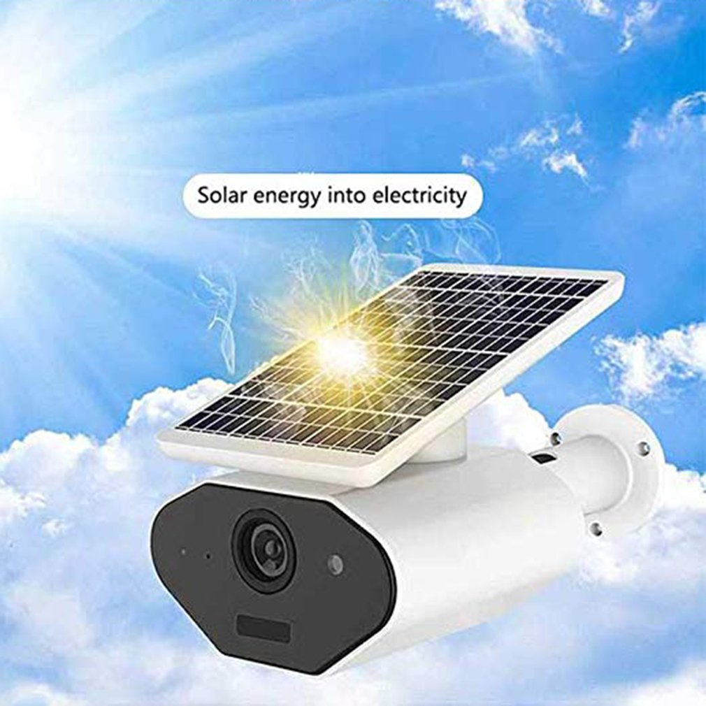 2.0Mp 1080P Wifi Outdoor Security Solar Power Waterproof Supply Wireless Camera With Rechargeable Battery Two-Way Audio