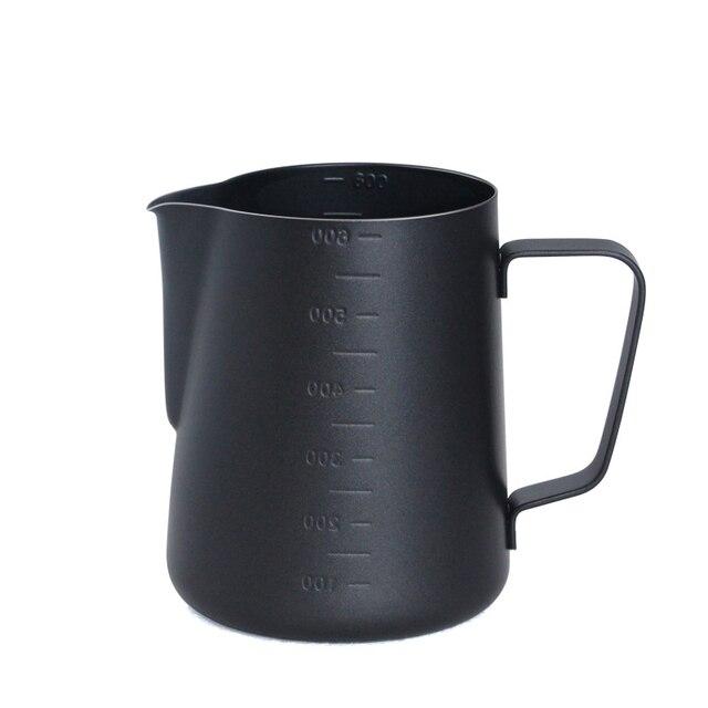 테플론 스테인레스 스틸 우유 Frothing 주전자 에스프레소 커피 투수 바리 스타 크래프트 커피 라떼 우유 Frothing 주전자 커피 투수