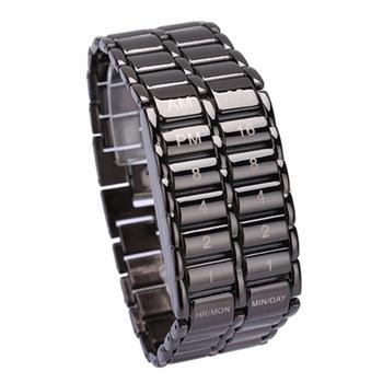 Moda i nowy luksusowy zegarek na rękę męska binarny Led cyfrowy kwarcowy zegarek na rękę dzień ojca moda kreatywne prezenty Часы Мужские tanie i dobre opinie luxfacigoo NONE STOP CN (pochodzenie) 22cmx3cmx1cm bez wodoodporności Moda casual Ukryte zapięcie LED Watch Cyfrowe zegarki na rękę
