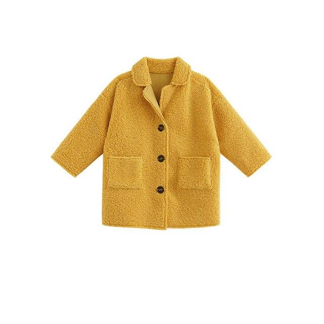 Hot Sale Girl's Coat Deer Leather Velvet Plus Lamb Velvet One-body Coat Winter Wear Children's Clothing Baby Girl Long Jacket 4