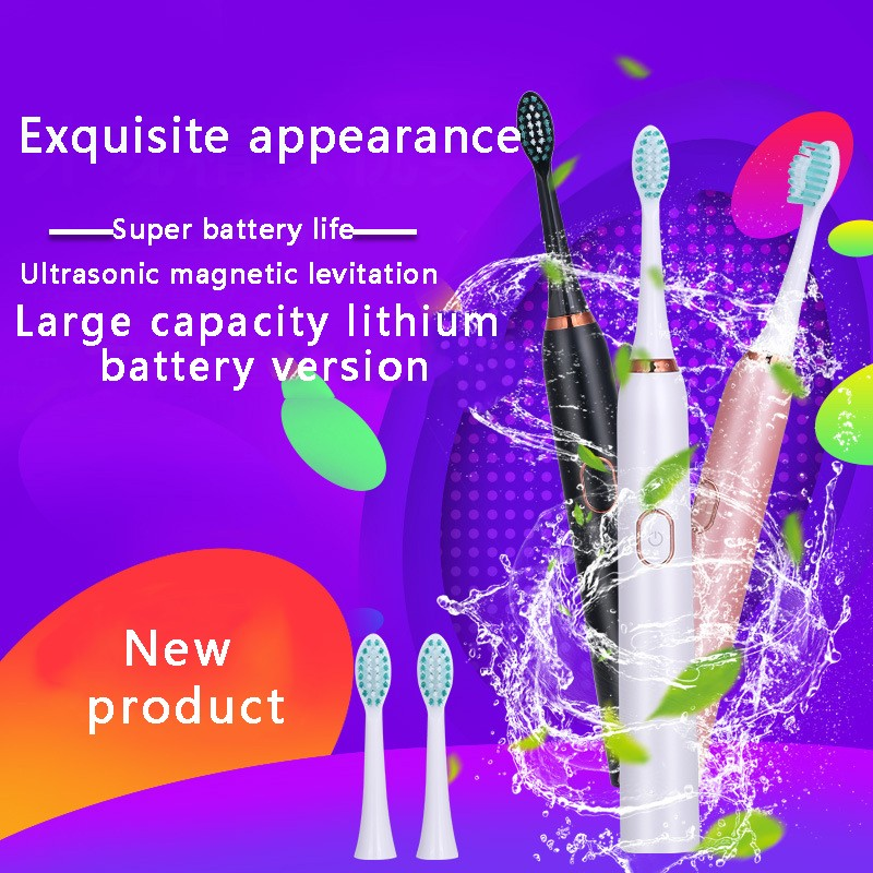 Electric Toothbrush USB Rechargeable Waterproof Clean Electric Toothbrush Upgraded Electric Sonic Smart Electric Toothbrush in Electric Toothbrushes from Home Appliances