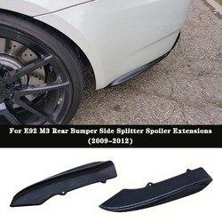 K styl z włókna węglowego tylny zderzak boczne Splitter Spoiler rozszerzenia dla BMW E92 E93 2 drzwi M3
