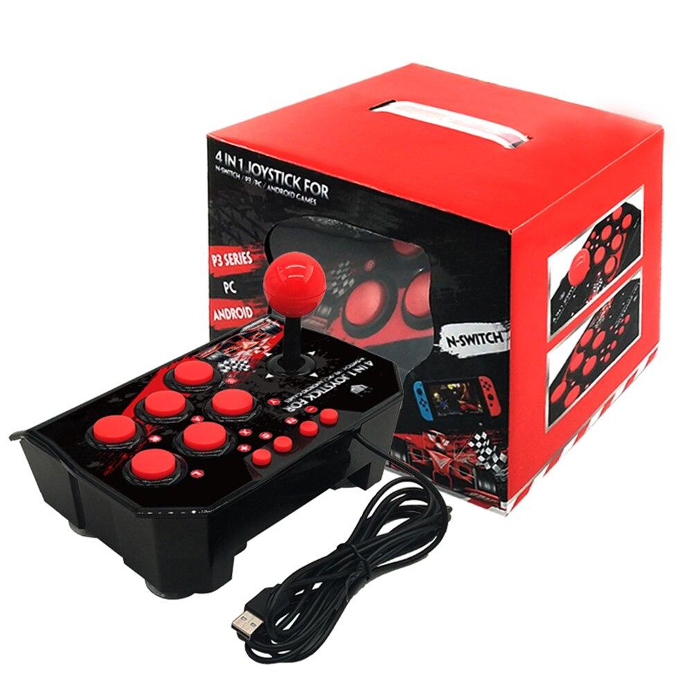 4 в 1 взаимный обмен данными между компьютером и периферийными устройствами проводной игровой джойстик Ретро аркадная игра станции TURBO игро...