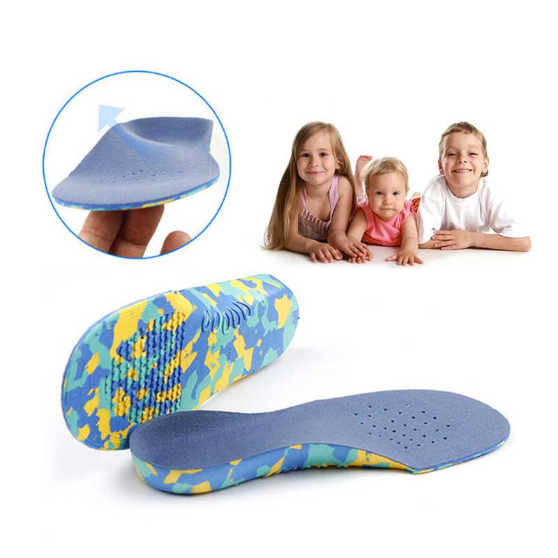 1 par Plano Pé Arch Suporte Pads Correção Ortopédicos Palmilhas Ortopédicos Palmilhas para Sapatos Das Crianças Dos Miúdos Corrige Má Postura