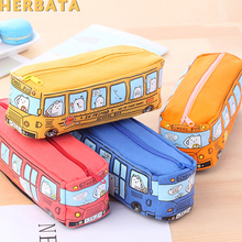 Stationery Pencil-Case Student Korea Canvas And Small Bus CL-19166 Bus-Pen-Bag Animal