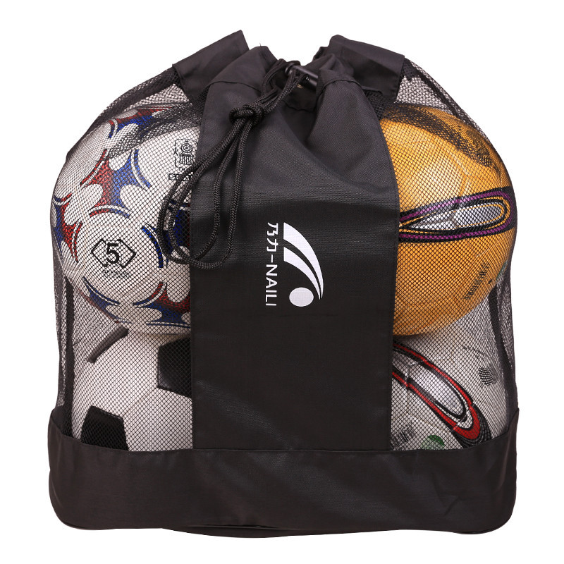 Football Storage Bag Basketball Big Net Bag Football Storgage Bag-5 PCs Ball Medium Shoulder Bag Sports Bag