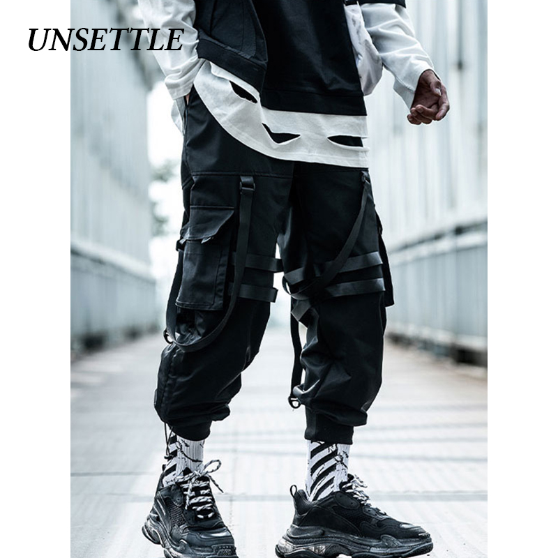 UNSETTLE 2020 Spring/Summer Hip Hop Joggers Men/Women Black Harem Pants Multi-pocket  Sweatpants Streetwear Casual Mens Pants