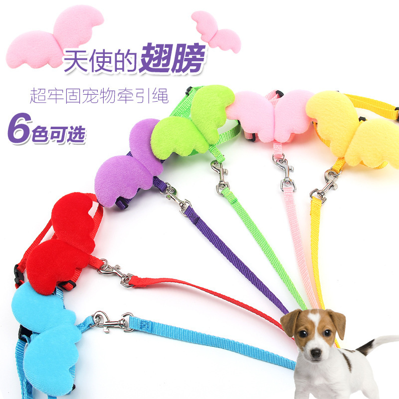 Dog Hand Holding Rope Cute Angel Wings Bichon Pet Cat Hand Holding Rope Small Dogs Teddy Dog Chain Dog Rope