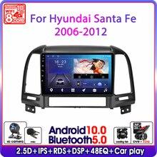 "Srnubi 9"" Android 10 Car Radio For Hyundai Santa Fe 2 2006 2012 GPS Navigation 2 din 4G WIFI DSP RDS Multimedia Video Player DVD"