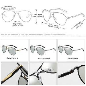 Image 4 - Aviazione Occhiali da Sole Delle Donne Degli Uomini Occhiali da Sole Polarizzati Fotocromatiche Occhiali da Sole Scolorimento Occhiali per Giorno Notte di Guida Chameleon Occhiali