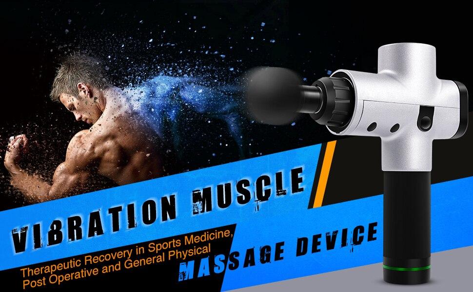 EMS Rechargeable Cordless Muscle Massage Gun 21