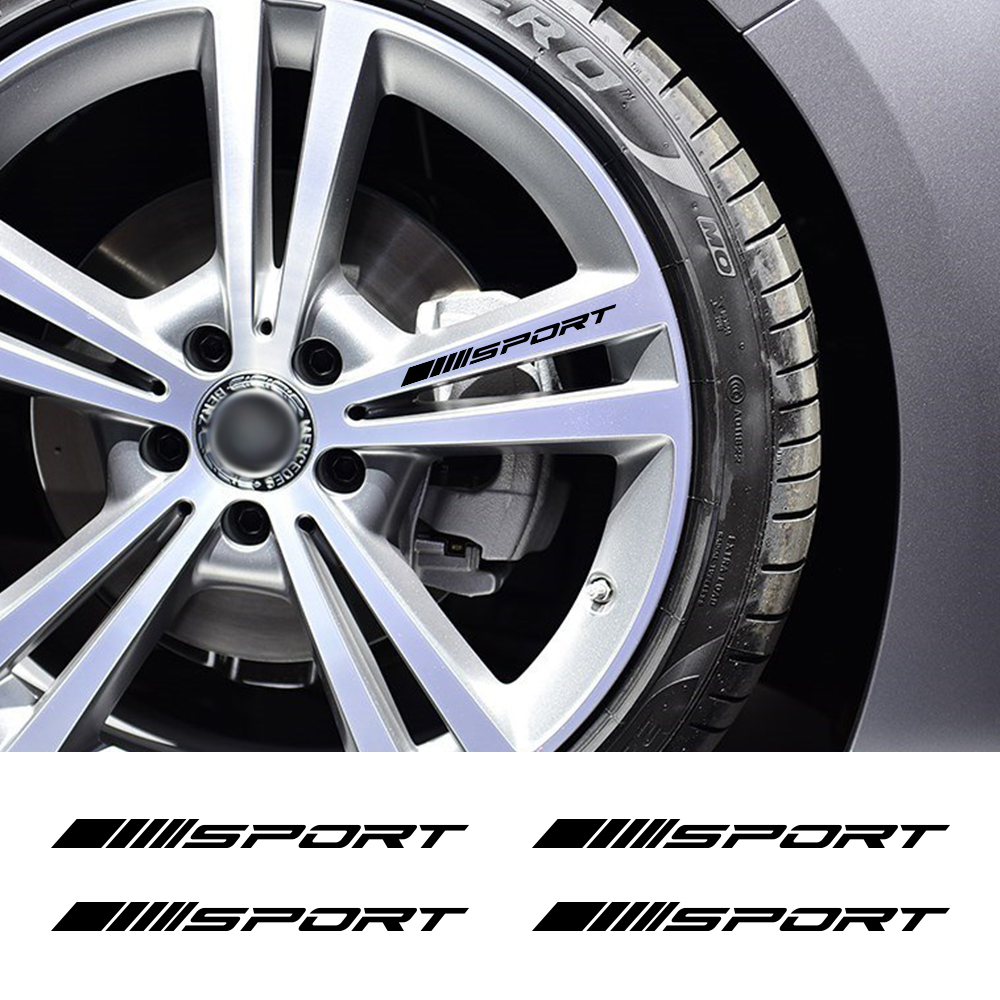 Sport Alloy Rims <font><b>Wheel</b></font> Stickers For <font><b>Mercedes</b></font> Benz W212 W205 W204 W203 W210 W211 <font><b>W124</b></font> W214 AMG GLA GLC GLS GLE CLA A C E S Class image