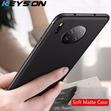 KEYSION Matte Phone Case for Huawei Mate 30 Pro Simple Sold Fine Soft Silicone Back Cover Lite 20