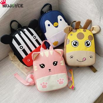 Cartoon Kids Canvas Backpack Comfortable Leisure Chic Fashionable Children Baby Student School Bags Animal Bagpacks