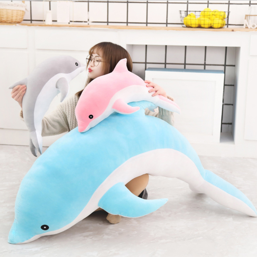 Kids Plush Toy Kawaii Soft Dolphin Plush Toy Stuffed Dolls Animal Nap Pillow Creative Kids Toy Christmas Gift For Girls Children