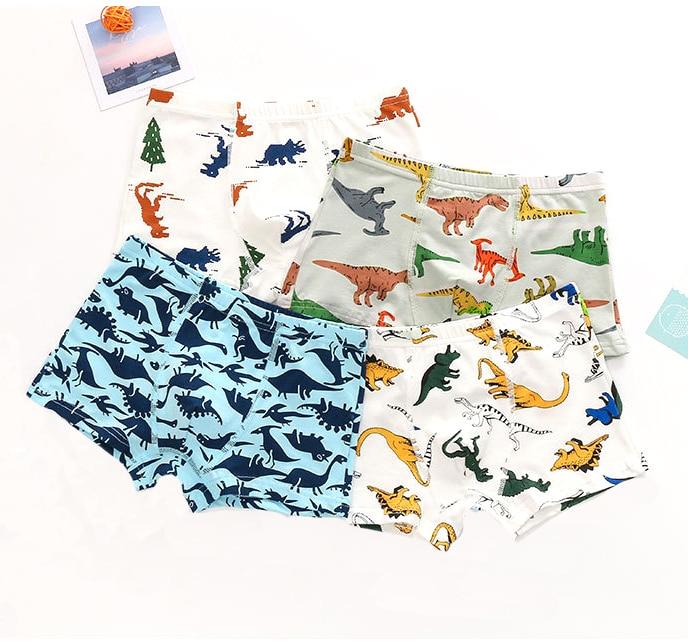 1 Pcs Baby Boys Panties Cotton Dinosaur Cars Underwear Boxers Underpants For Kid Children's Underwear Clothing Kids Underwear