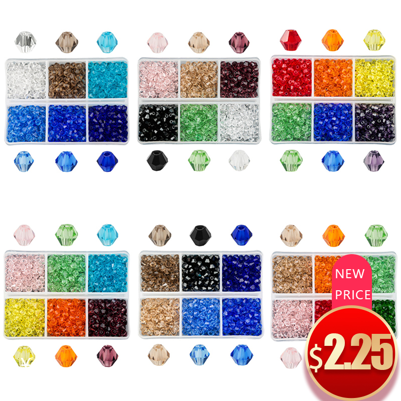 Crystal Beads Glass Jewelry-Making Austria Color 4mm Wholesale for Best-Selling 600pcs/Lot
