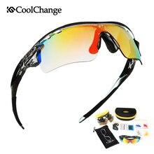 Coolсмена поляризационные велосипедные очки, велосипедные уличные спортивные велосипедные солнцезащитные очки для мужчин и женщин, очки с 5 линзами, оправа для близорукости