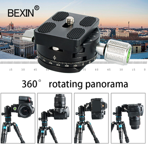 Image 4 - Dslr quick release clamp camera mount clip tripod plate adapter 360 rotate panoramic shooting clamp for arca swiss camera tripod