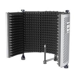 Neewer NW-5 Panel de grabación de sonido portátil ajustable plegable, protector de micrófono de aislamiento acústico de aluminio