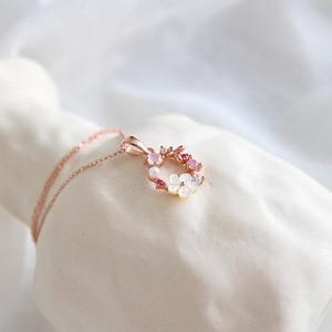 Image 2 - SSTEEL 925 Sterling Silver Zircon Pearl Pendant Necklace For Women Korean Rose Gold Chain Bijoux Argent 925 Massif Pour Femme