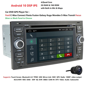 Image 5 - أندرويد 10.0 DSP سيارة الوسائط المتعددة لفورد فييستا/كوغا/مونديو العبور // الاتصال C/S ماكس مرآة رابط واي فاي DVR DAB TPMS المدمج في الخريطة
