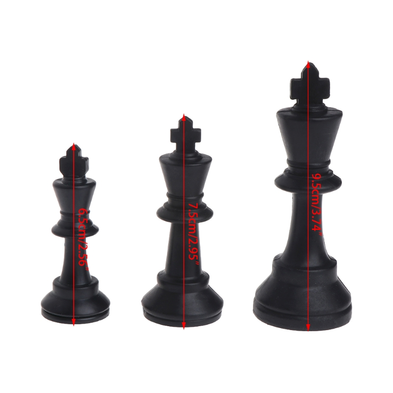 Medieval Chess Pieces Plastic Complete Chessmen International Word Chesses Game Y4UB